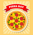 pizza day vector image