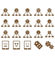 Smile emotion relations and tablet icons vector image