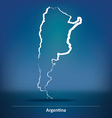 Doodle Map of Argentina vector image