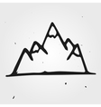 mountains hand drawn vector image