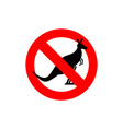 Stop kangaroo Forbidden marsupial Frozen vector image