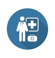 Doctor on Duty Icon Flat Design vector image