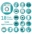 Set flat design icons of home appliances with long vector image