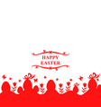 eggs and flower red vector image