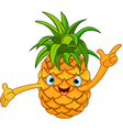 pineapple character vector image vector image