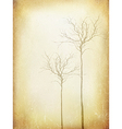 Vintage Tree Silhouette Poster Aged Template vector image vector image