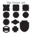 Big set of monochrome frames vector image