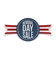 Memorial Day Sale patriotic Banner with Text vector image