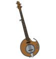 Modern electric banjo vector image