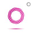 Pink segmented circular spiral vector image