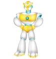Robot cartoon posing vector image