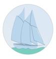 Sailboat paper flat design vector image