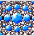 seamless blue crystals pattern vector image