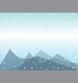 snow falling on mountains vector image