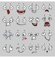 Comic cartoon faces with different emotions vector image