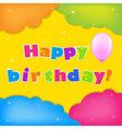 Card Happy Birthday vector image vector image