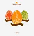 Easter logo emblem with ribbon vector image