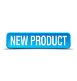 new product blue 3d realistic square isolated vector image