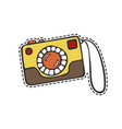 camera sticker vector image