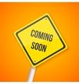 Photorealistic Website Coming Soon Road vector image