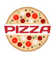 Pizza logo template Color sign with text vector image
