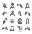 Selfie icons black vector image
