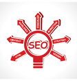 SEO concept with bulb vector image