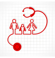 Stethoscope make family icon vector image