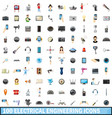 100 electrical engineering icons set cartoon vector image