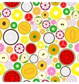 Bright fruit seamless background vector image