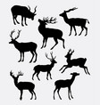 deer animal activity silhouette vector image