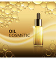 bright cosmetic oil ads template vector image