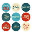 American labor day sale designs set vector image
