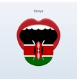 Kenya language Abstract human tongue vector image