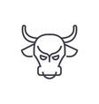 Bull marketstock marketbullish line icon vector image