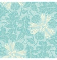 turquoise floral seamless pattern vector image vector image