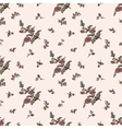 seamless floral pattern brown flower vector image