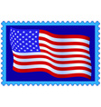 USA flag on stamp vector image vector image