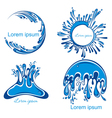 Water splashes collection vector image