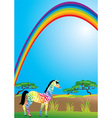 rainbow and zebra vector image vector image