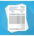 unfill paper invoice form tax receipt bill vector image