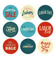 american labor day sale designs set vector image