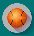 basketball flat icon sport vector image