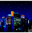 Building night city vector image