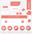 flat design trendy web elements vector image