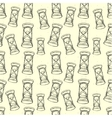Grungy seamless pattern with hourglass vector image