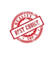 Rubber stamp best choice in vector image
