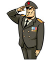 soldier salute vector image