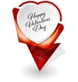 Valentines Day infographic banner vector image