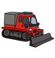 Funny red snowgroomer vector image